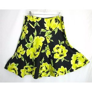 Cache yellow and black skirt.